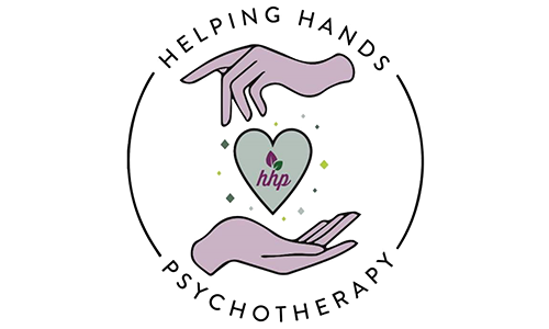 Helping Hands Psychotherapy logo. They are a T-shirt logo sponsor for the 13th Annual Sounds of Silence Run/Walk. Please click on their link to visit them.