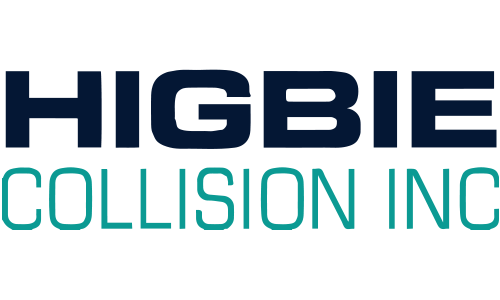 Higbie Collision logo. They are a T-shirt logo sponsor for the 13th Annual Sounds of Silence Run/Walk. Please click on their link to visit them.