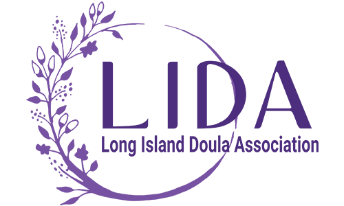 Long Island Doula Association (LIDA) logo. They are a T-shirt logo sponsor for the 13th Annual Sounds of Silence Run/Walk. Please click on their link to visit them.